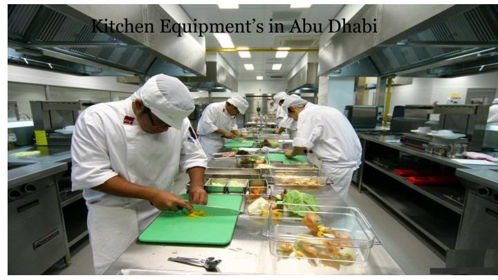 Kitchen Equipment's in