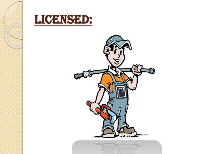 Licensed: