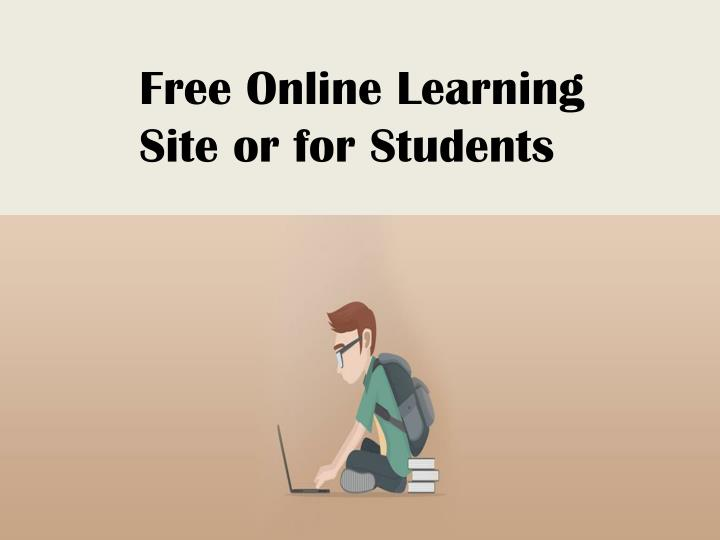 Free Online Learning Site or for