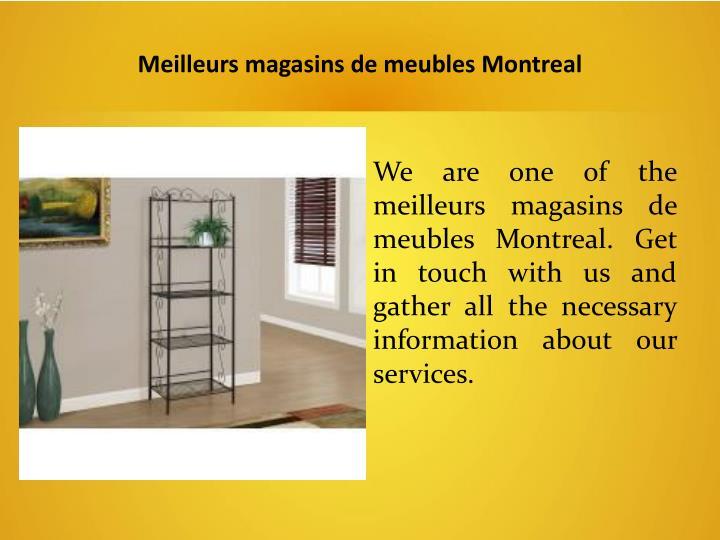 Meilleurs magasins de meubles Montreal