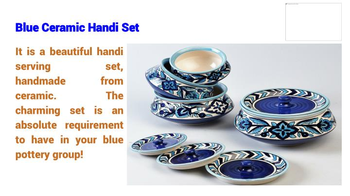 Blue Ceramic Handi Set
