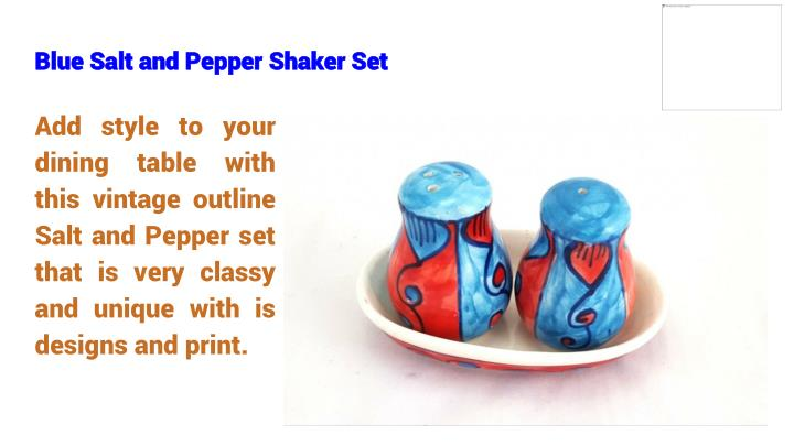 Blue Salt and Pepper Shaker Set