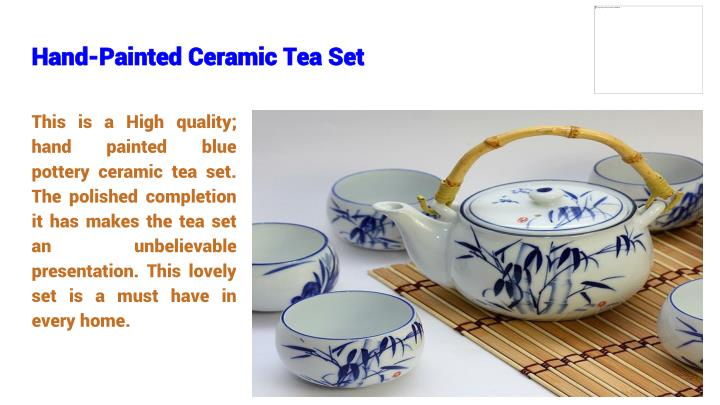 Hand-Painted Ceramic Tea Set