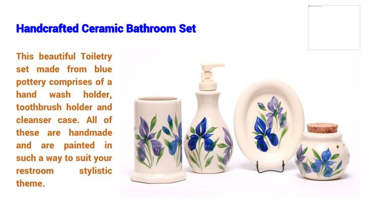 Handcrafted Ceramic Bathroom Set