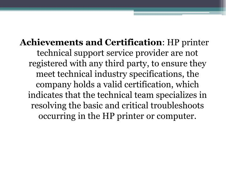 Achievements and Certification