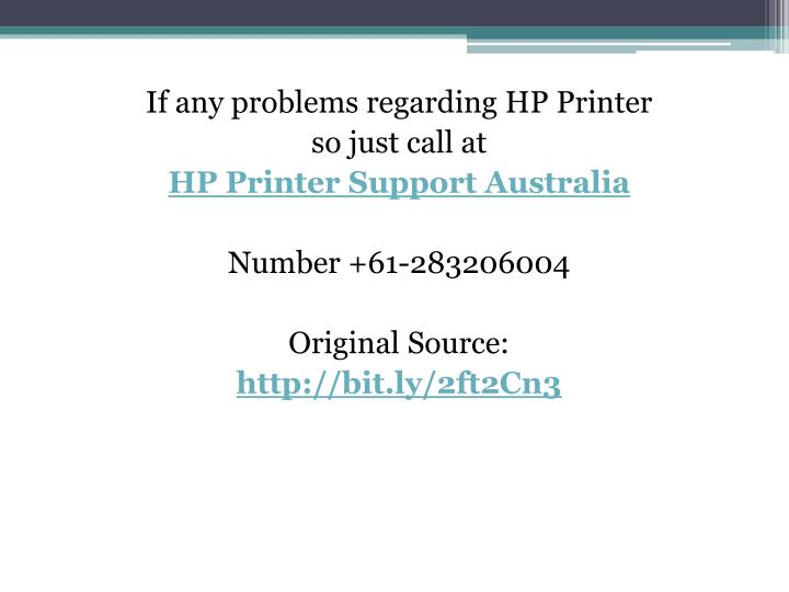 If any problems regarding HP Printer