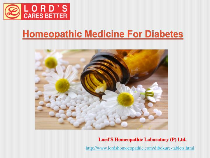 Homeopathic medicine for diabetes