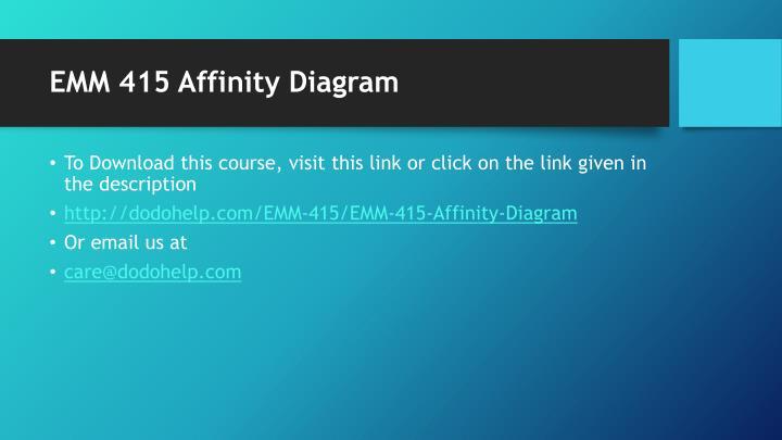 EMM 415 Affinity Diagram