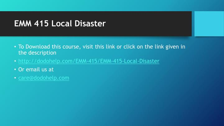 Emm 415 local disaster1