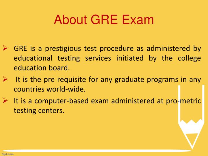 About GRE Exam
