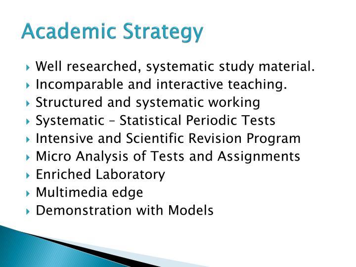 AcademicStrategy