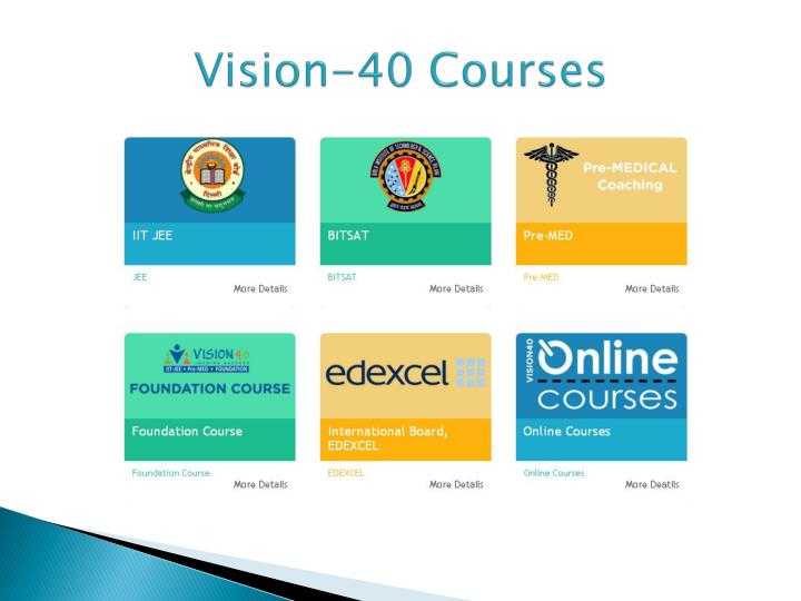 Vision 40 courses