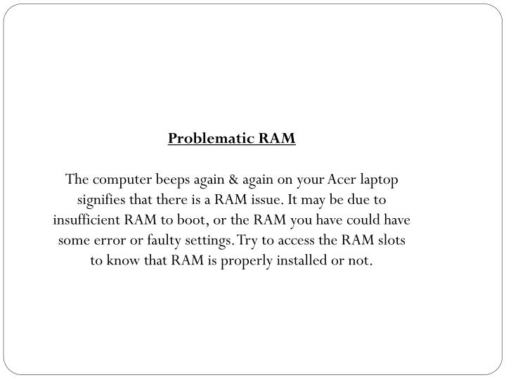 Problematic RAM