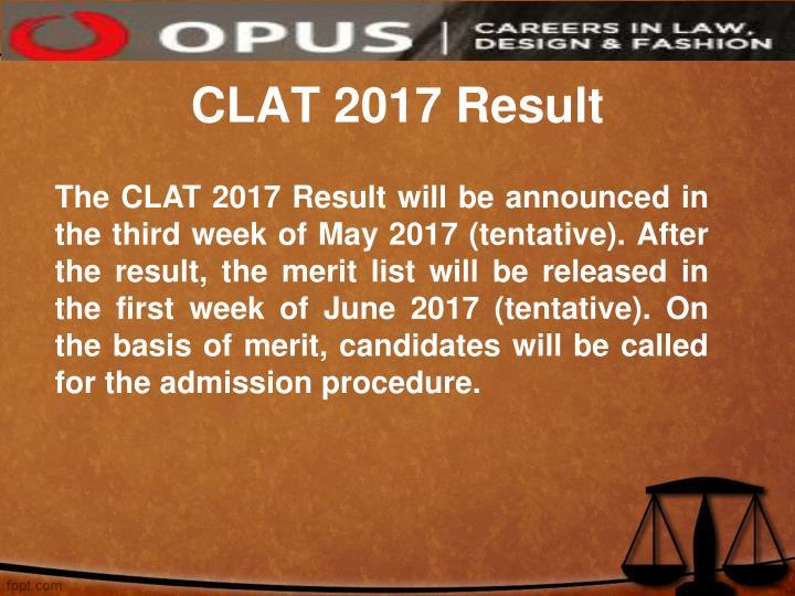 CLAT 2017 Result