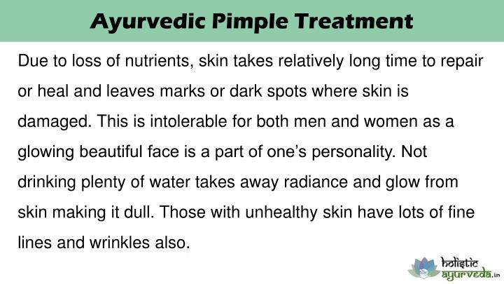 Ayurvedic Pimple Treatment