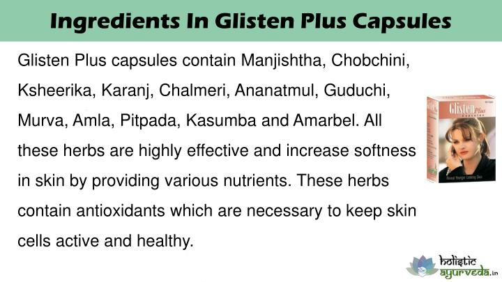Ingredients In Glisten Plus Capsules