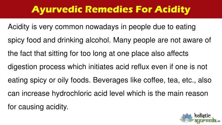 Ayurvedic Remedies For Acidity