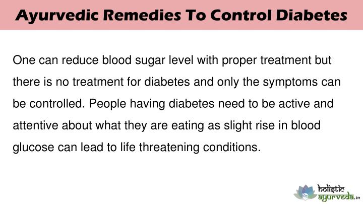 Ayurvedic Remedies To Control Diabetes