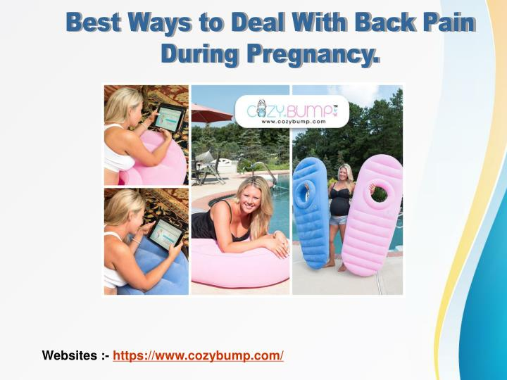 Best Ways to Deal With Back Pain