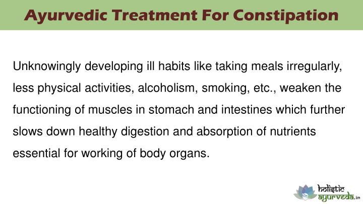 Ayurvedic Treatment For Constipation