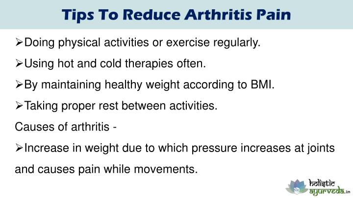 Tips To Reduce Arthritis Pain