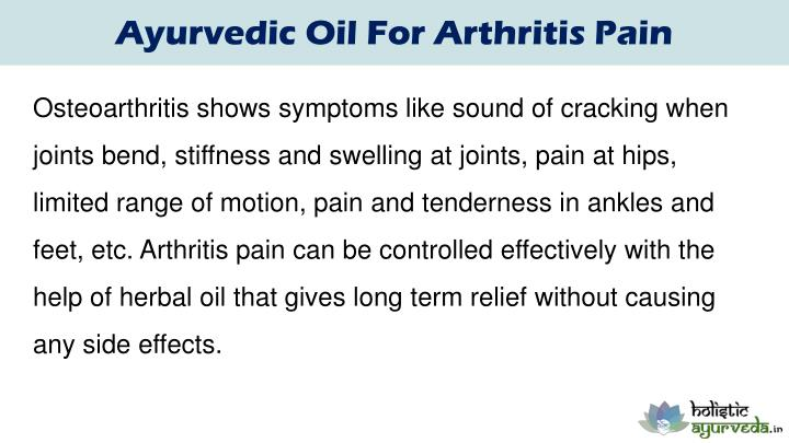 Ayurvedic Oil For Arthritis Pain