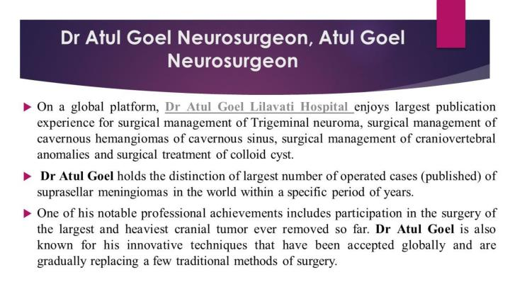 Dr atul goel neurosurgeon atul goel neurosurgeon