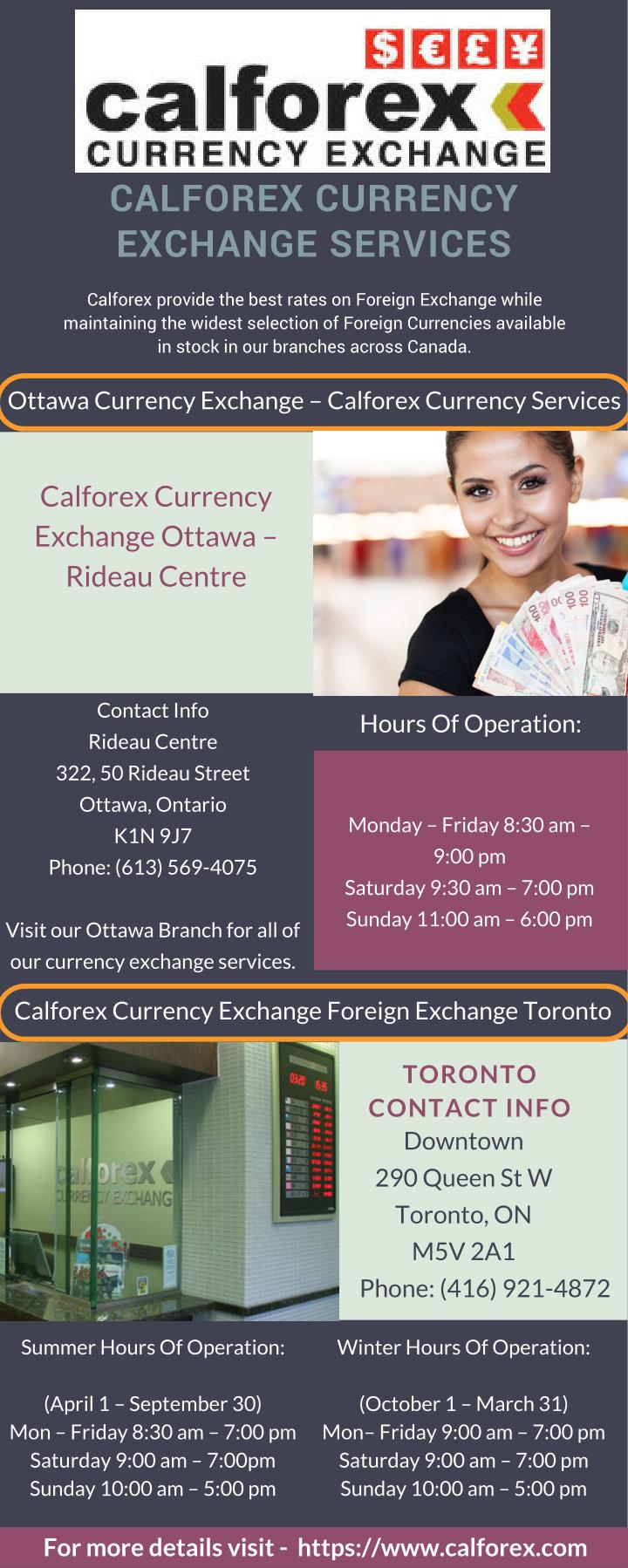 Calforex montreal exchange rates
