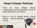 design colleges rankings