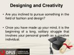 designing and creativity