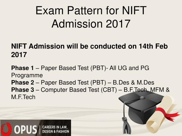 Exam Pattern for NIFT Admission 2017