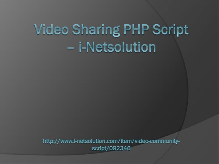 Video Sharing PHP Script –