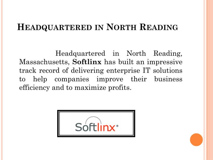 Headquartered in north reading