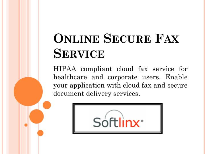 Online secure fax service