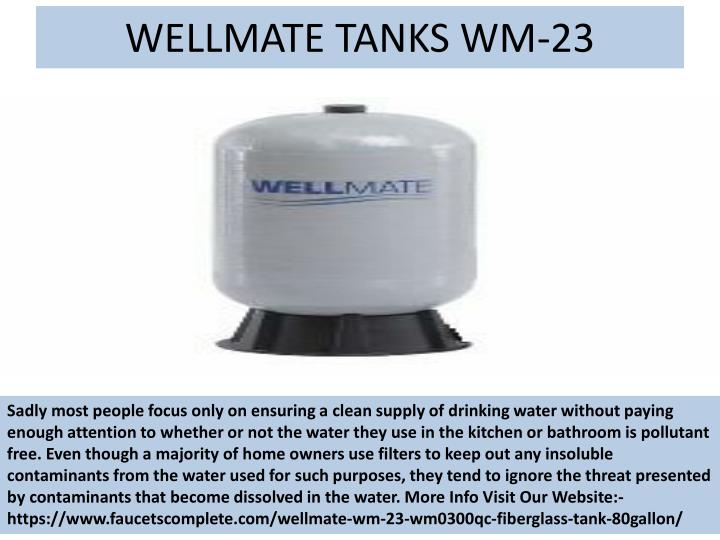 WELLMATE TANKS WM-23