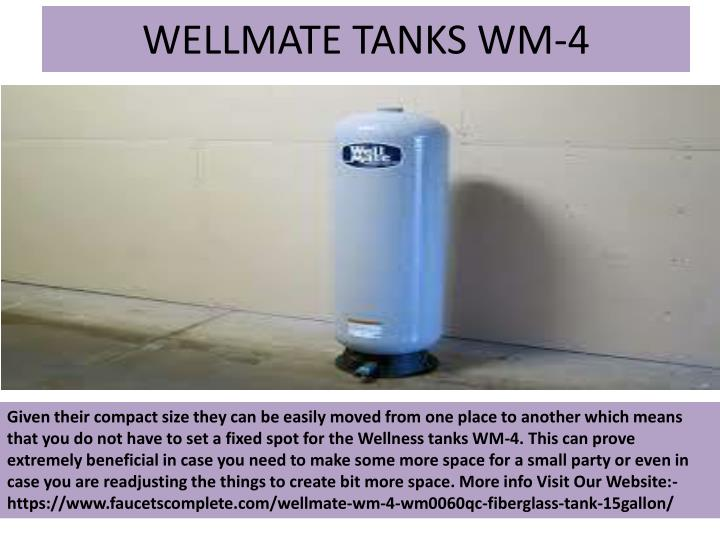 WELLMATE TANKS WM-4