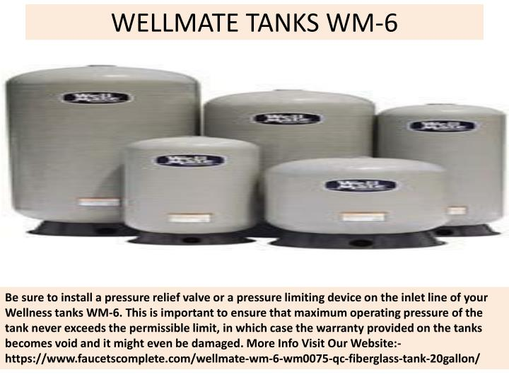 Wellmate tanks wm 6