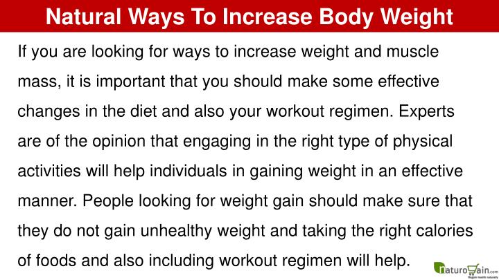 Natural Ways To Increase Body Weight