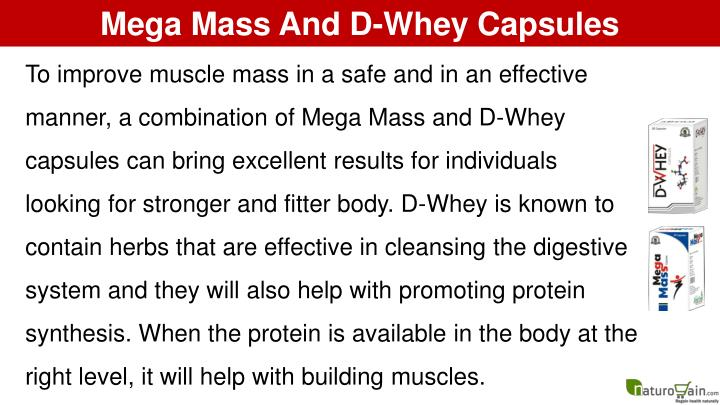 Mega Mass And D-Whey Capsules