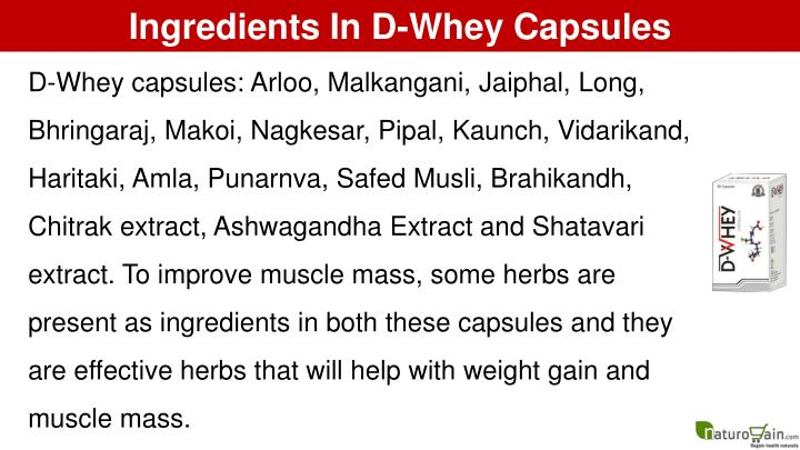 Ingredients In D-Whey