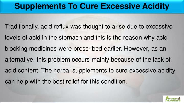 Supplements To Cure Excessive Acidity
