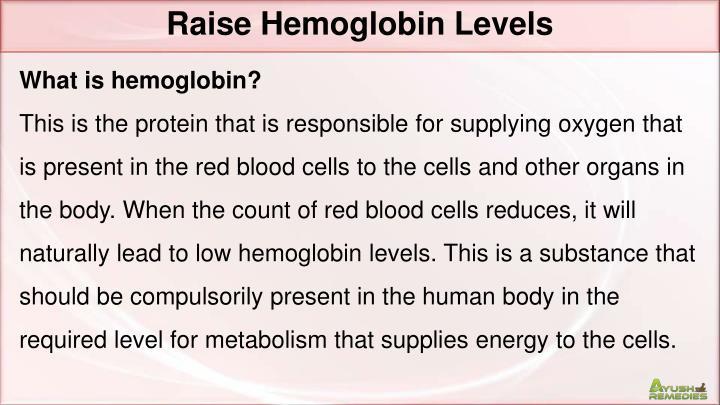 Raise Hemoglobin Levels
