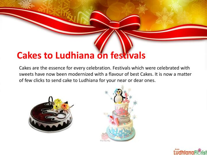 Cakes to Ludhiana on festivals