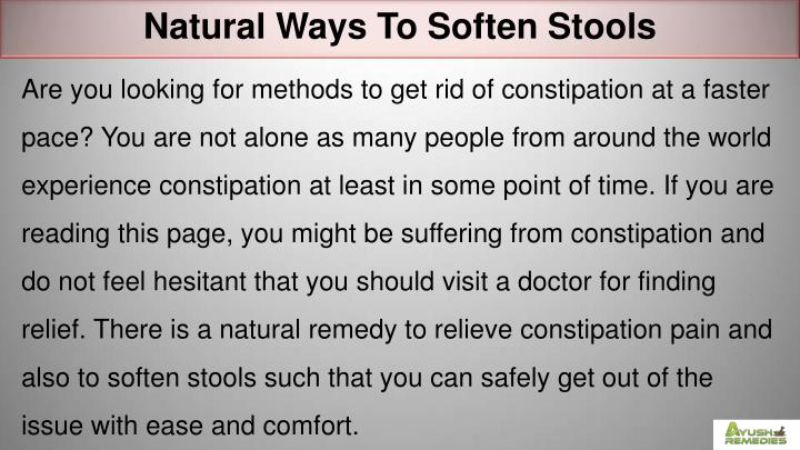 Natural Ways To Soften Stools