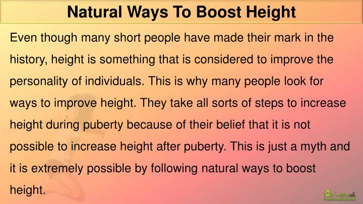Natural Ways To Boost Height