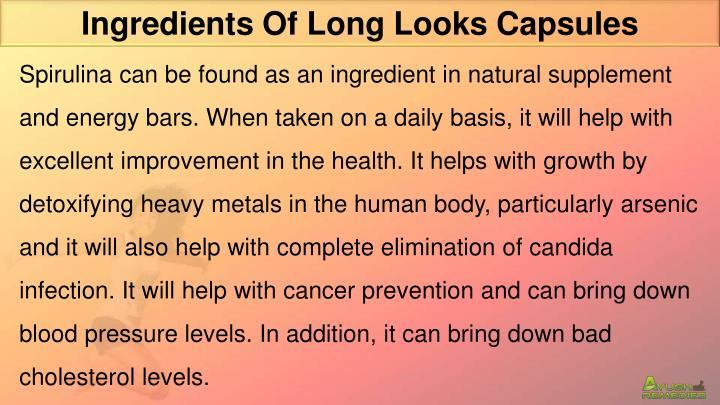 Ingredients Of Long Looks Capsules