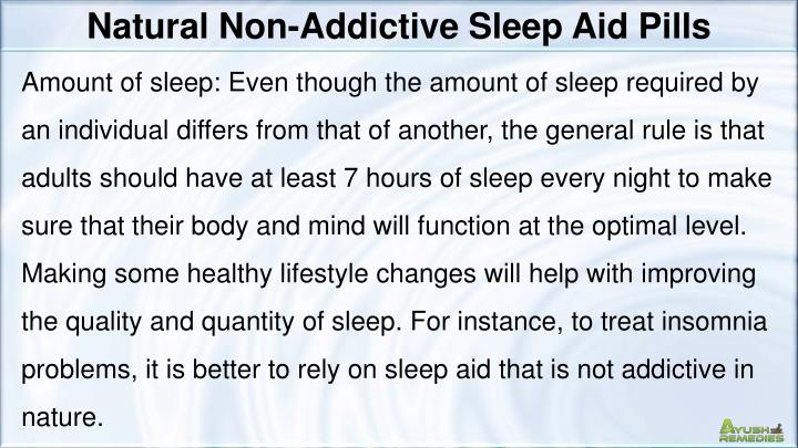 Natural Non-Addictive Sleep Aid Pills
