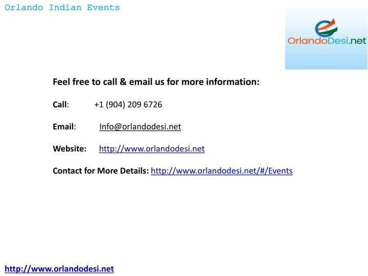 Orlando Indian Events