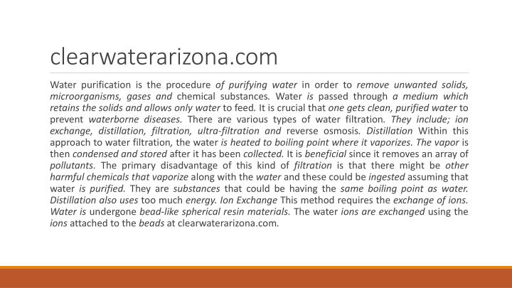 Clearwaterarizona com