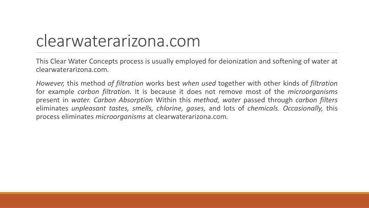 clearwaterarizona.com